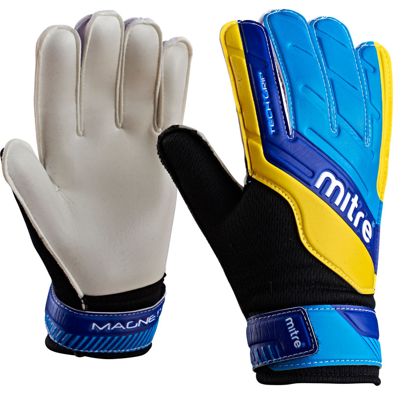 Goalkeeper Gloves Mitre Magnetite Junior