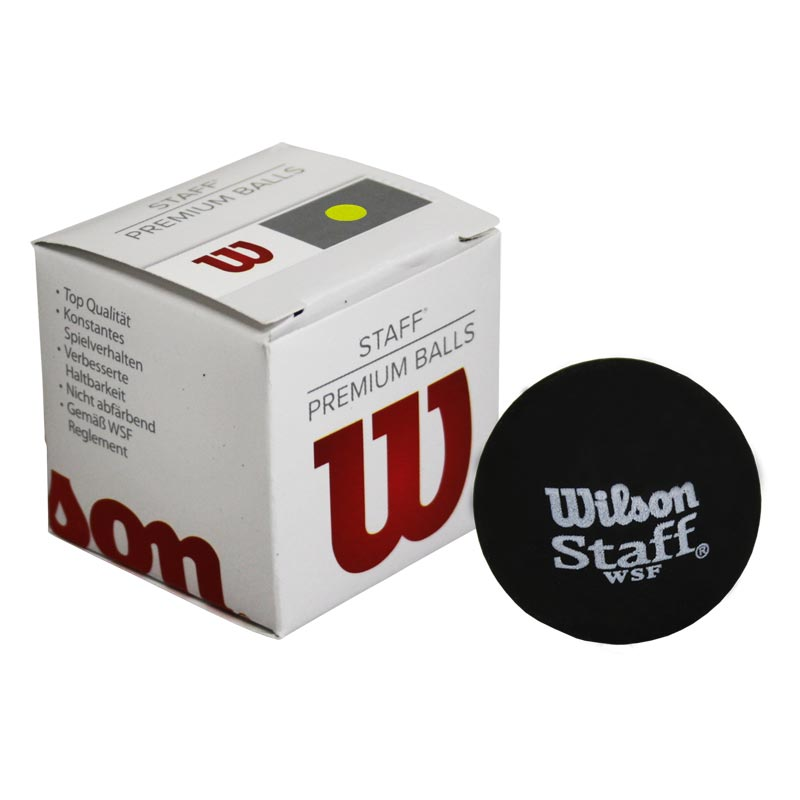 Wilson Staff Squash Ball Yellow Dot