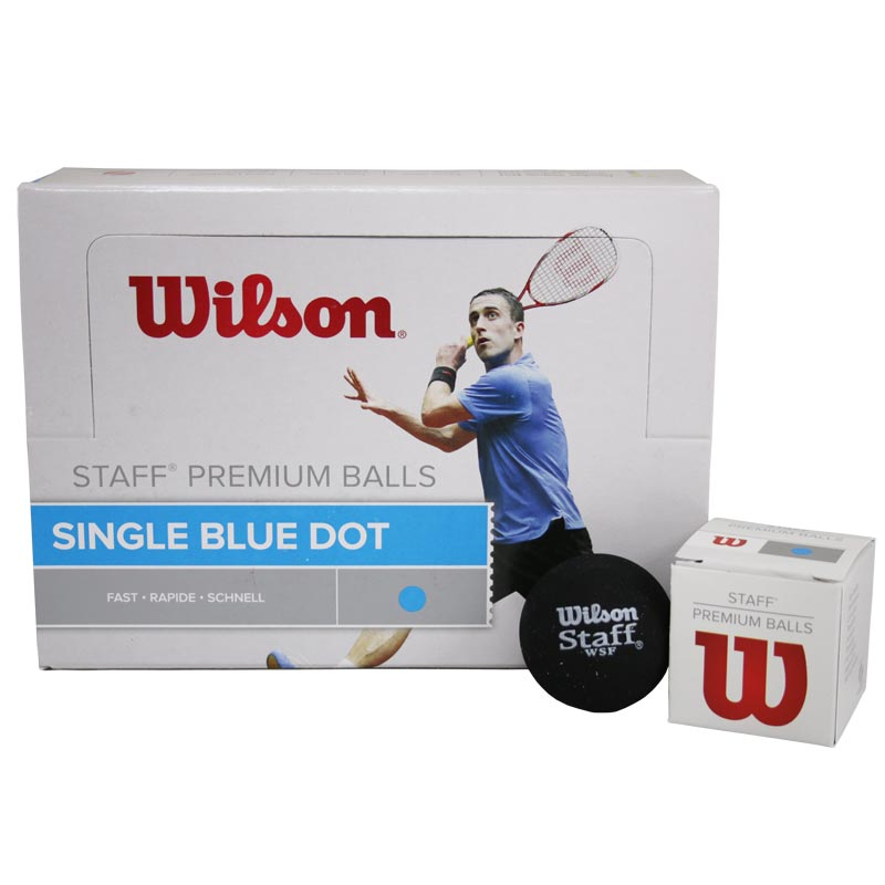 Wilson Staff Squash Ball Blue Dot