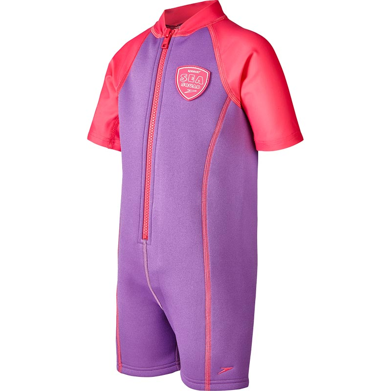 Speedo Girls Sea Squad Hot Tot Suit Purple/Pink