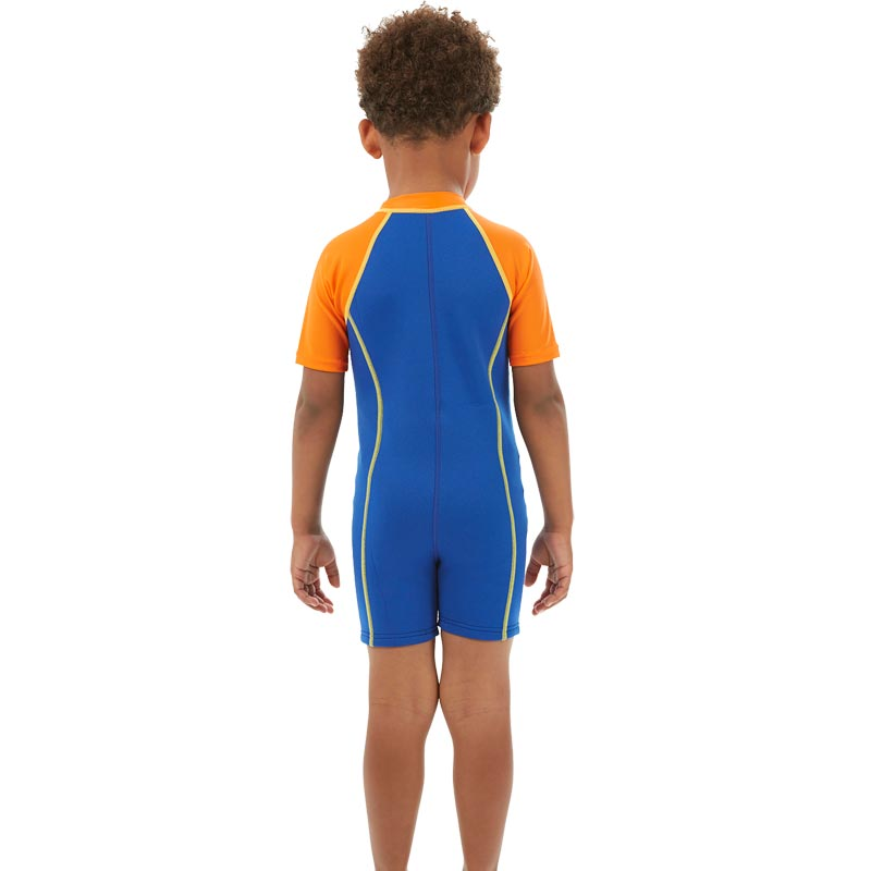Speedo Boys Sea Squad Hot Tot Suit Blue/Orange