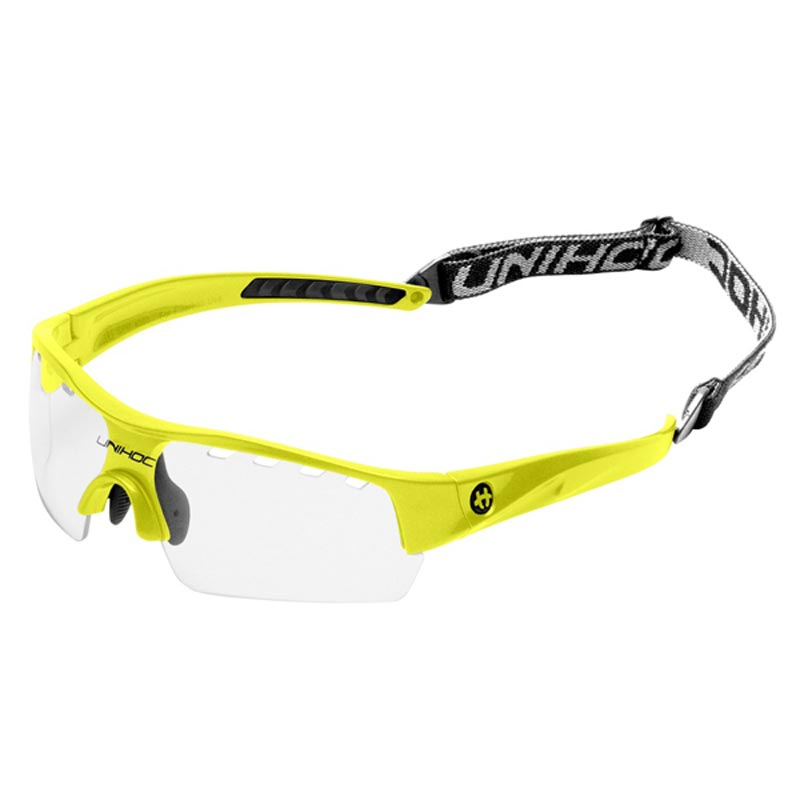 Unihoc  Floorball Victory Young Neon Glasses