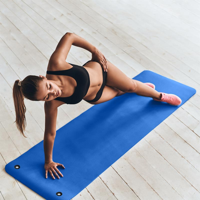 Beemat Premium Exercise Mat with Eyelets 180cm