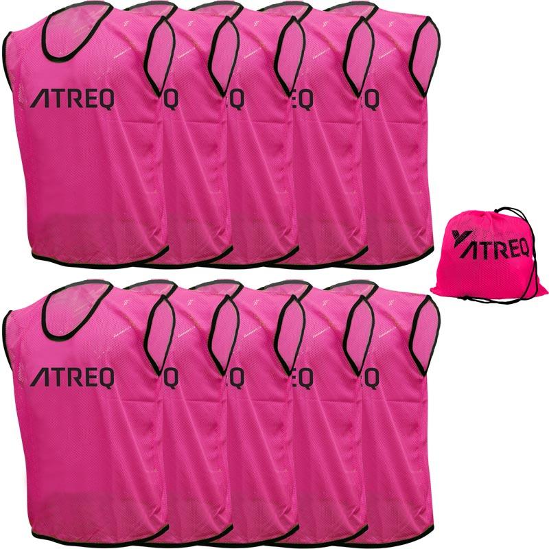 ATREQ Hi Vis Training Bibs 10 Pack Pink