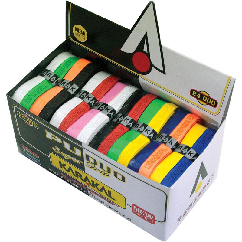 Karakal PU Super Duo Racket Grip 24 Pack