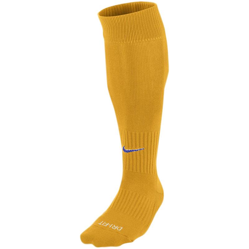 Nike Classic II Football Sock Gold with Blue Swoosh