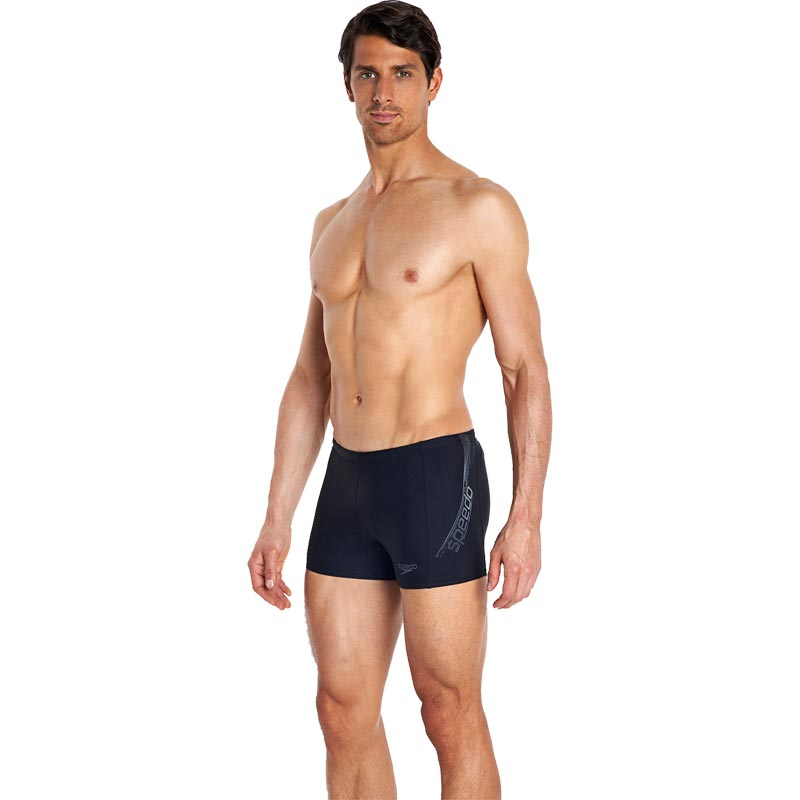 Speedo Sports Logo Aquashort Black/USA Charcoal