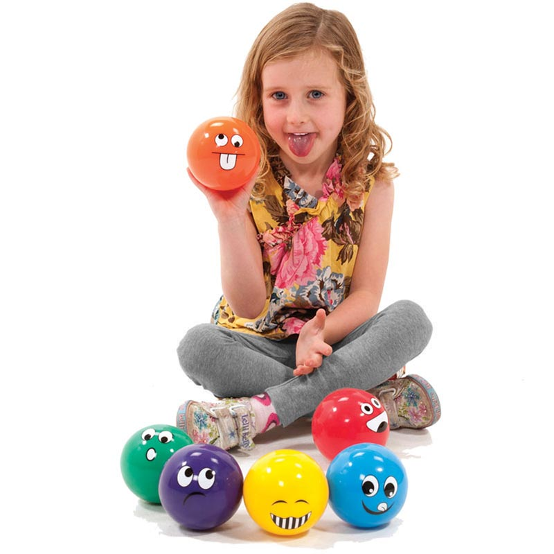PLAYM8 Funny Face Ball 6 Pack 10cm