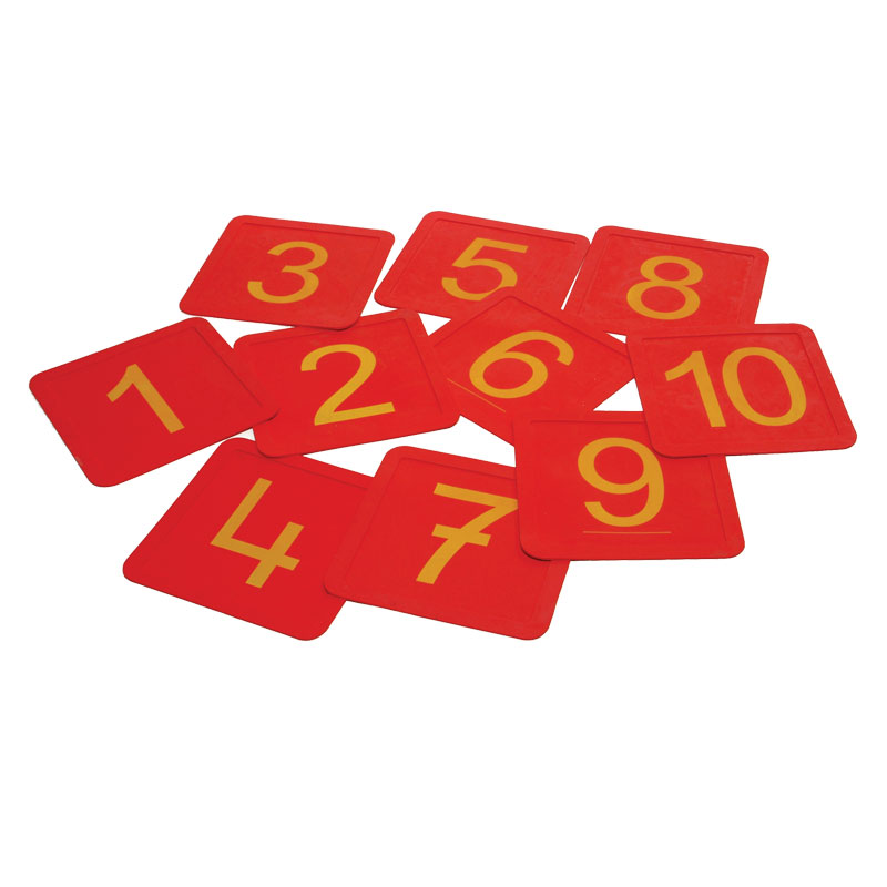First Play Rubber Number Squares 10 Pack