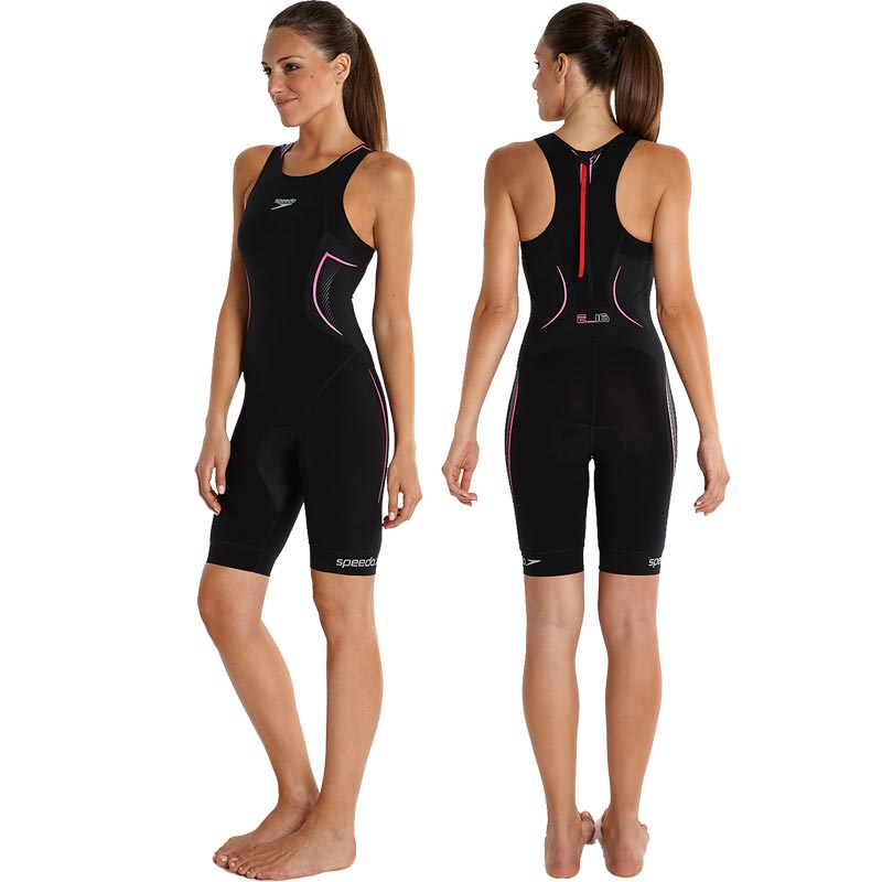 Speedo Elite E16 Tri Suit Black/Pink