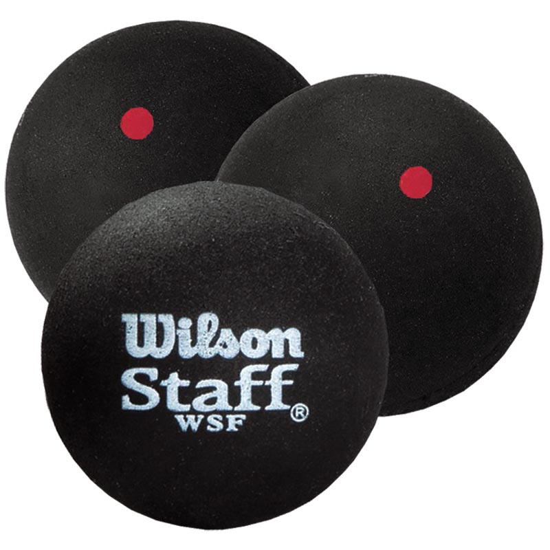Wilson Staff Squash Balls Red Dot Tube of 3