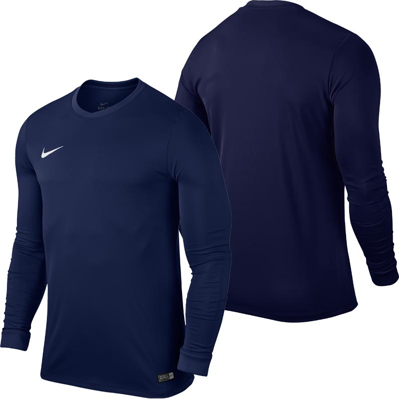 Nike Park VI Long Sleeve Senior Football Shirt Midnight Navy