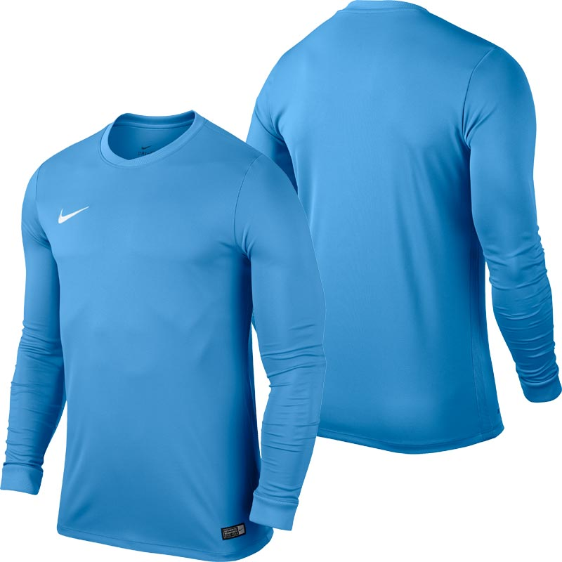 Nike Park VI Long Sleeve Junior Football Shirt University Blue