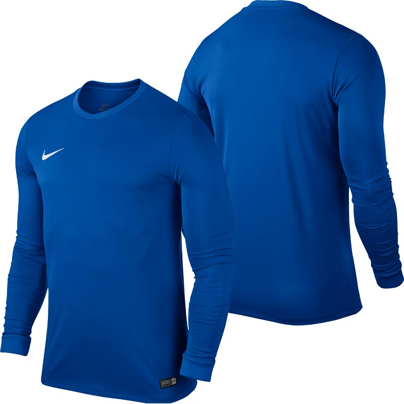 Nike Park VI Long Sleeve Junior Football Shirt Royal Blue