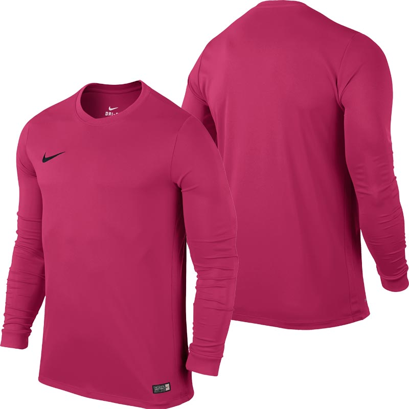 10adb98f839f Nike Park VI Long Sleeve Senior Football Shirt Vivid Pink. Tap to expand