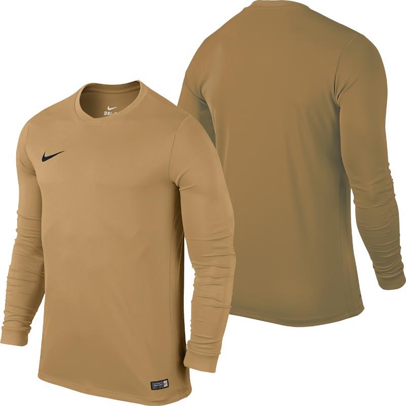 Nike Park VI Long Sleeve Junior Football Shirt Jersey Gold
