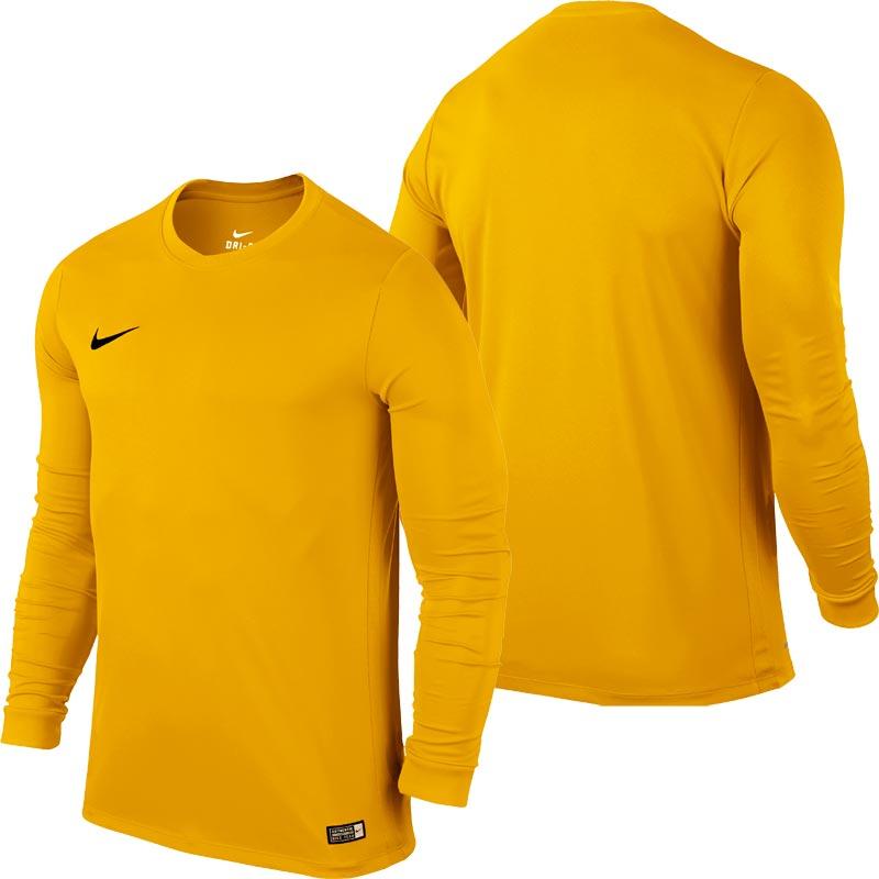 Nike Park VI Long Sleeve Junior Football Shirt University Gold