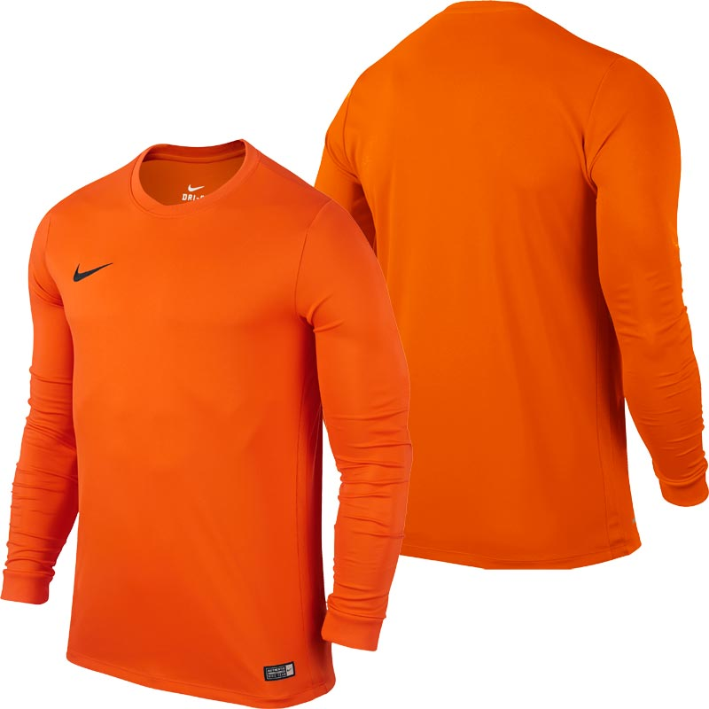 Nike Park VI Long Sleeve Junior Football Shirt Safety Orange