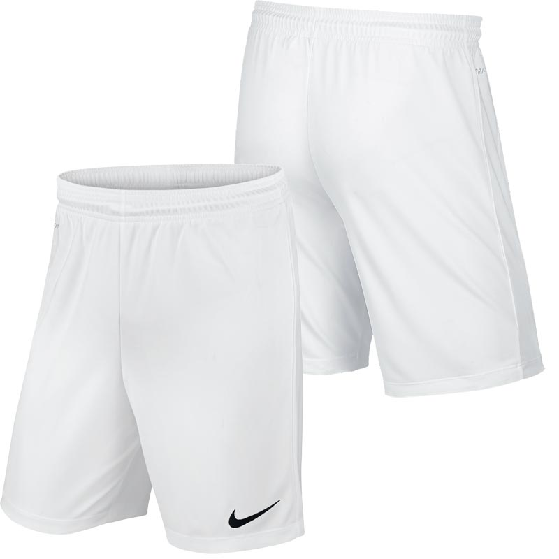 Nike Park II Knit Senior Football Shorts White