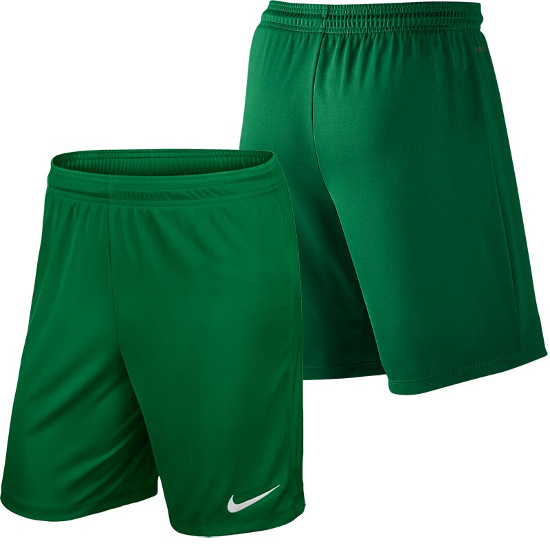 Nike Park II Knit Senior Football Shorts Pine Green