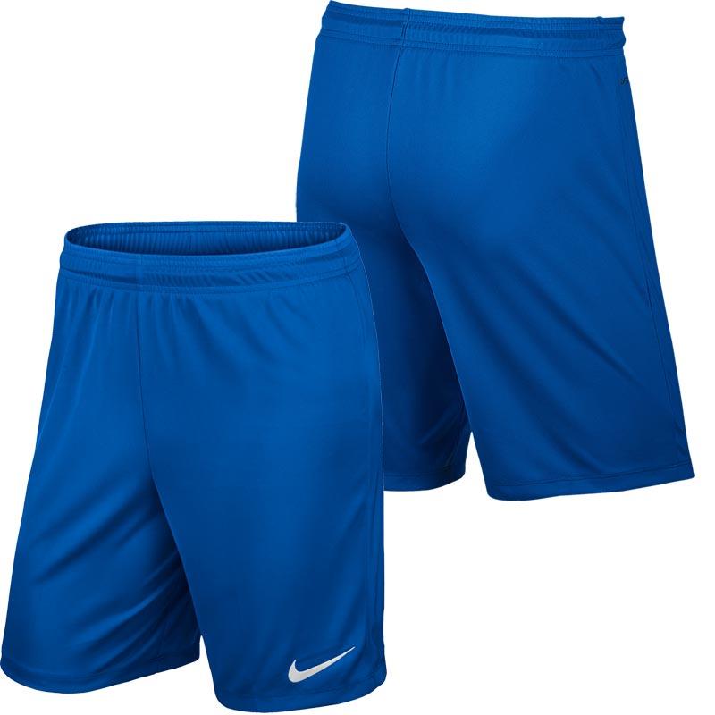 Nike Park II Knit Senior Football Shorts Royal Blue