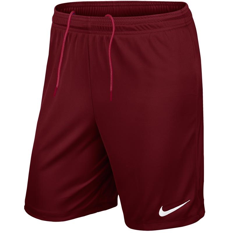 Nike Park II Knit Junior Football Shorts Team Red