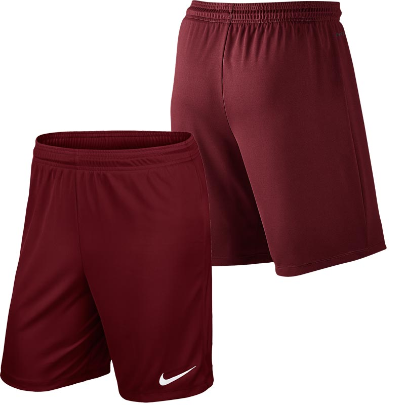 Nike Park II Knit Senior Football Shorts Team Red