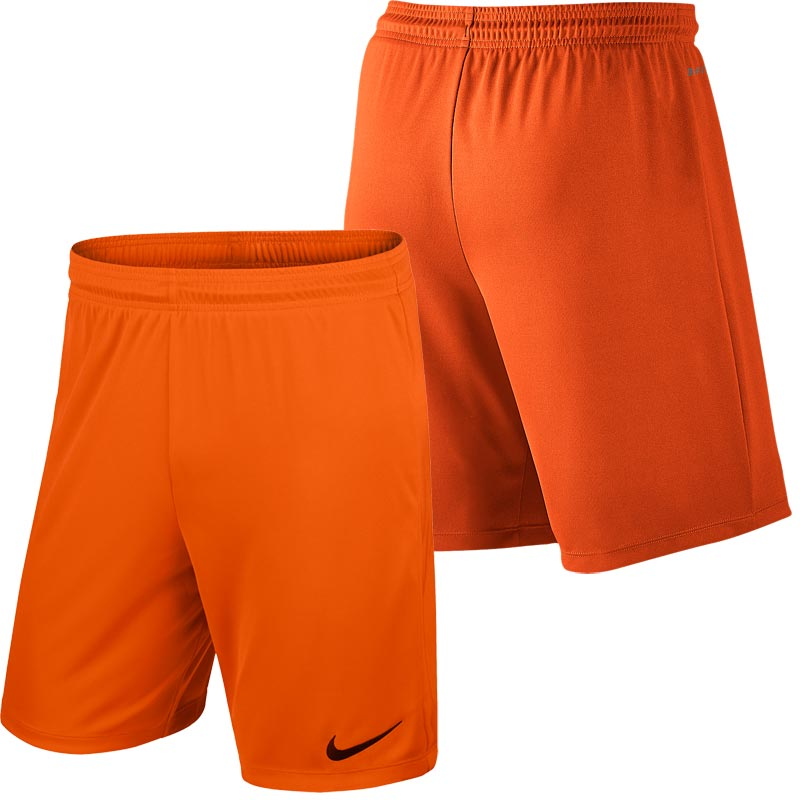 Nike Park II Knit Senior Football Shorts Safety Orange