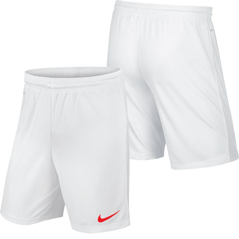 Nike Park II Knit Junior Football Shorts White/Red