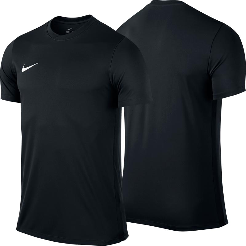 Nike Park VI Short Sleeve Junior Football Shirt Black