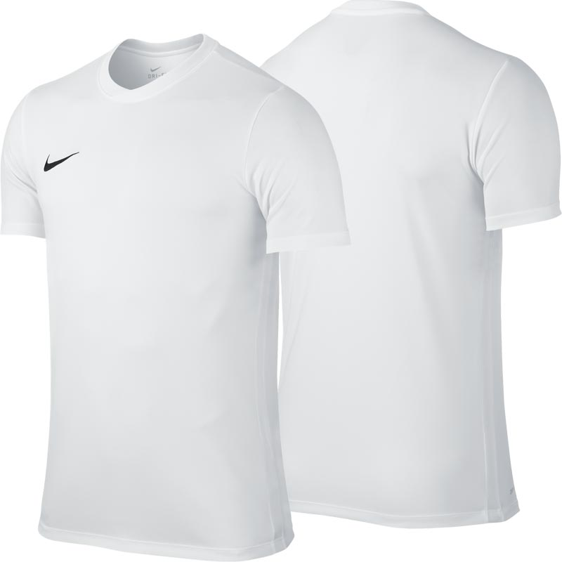 Nike Park VI Short Sleeve Junior Football Shirt White