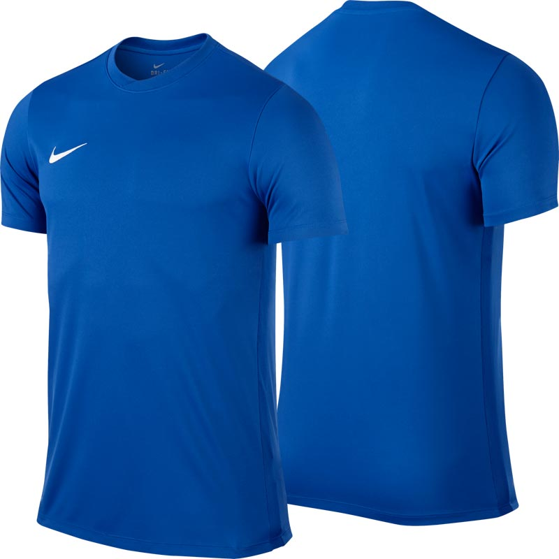 Nike Park VI Short Sleeve Senior Football Shirt Royal Blue