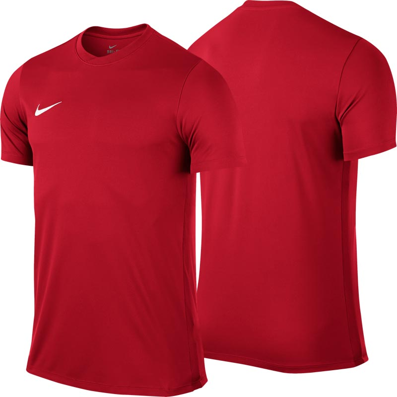 Nike Park VI Short Sleeve Junior Football Shirt University Red