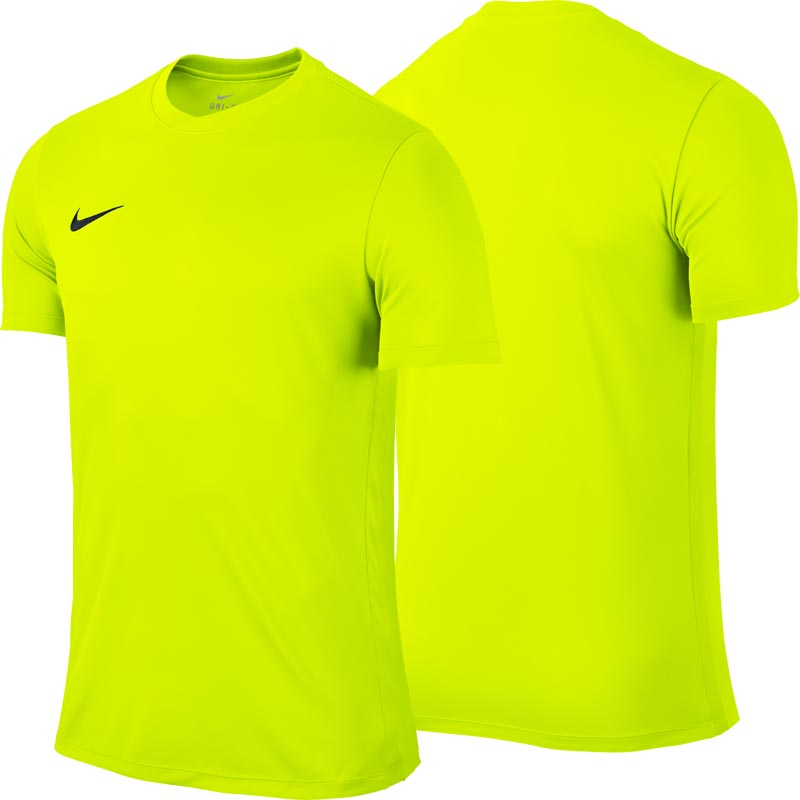 e6ef84c4 Nike Park VI Short Sleeve Senior Football Shirt Volt Yellow. Tap to expand