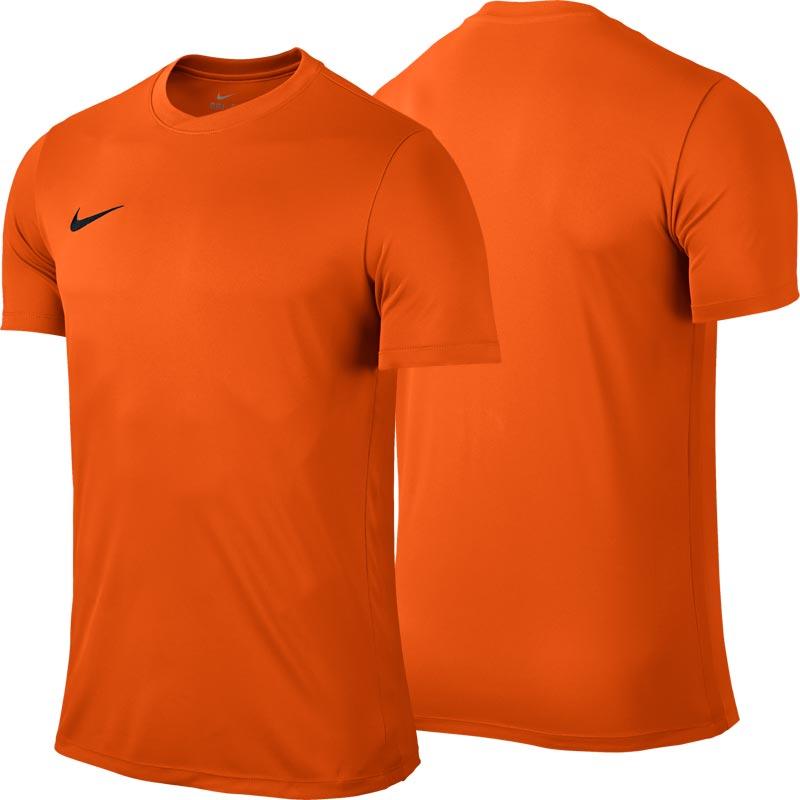 Nike Park VI Short Sleeve Junior Football Shirt Safety Orange