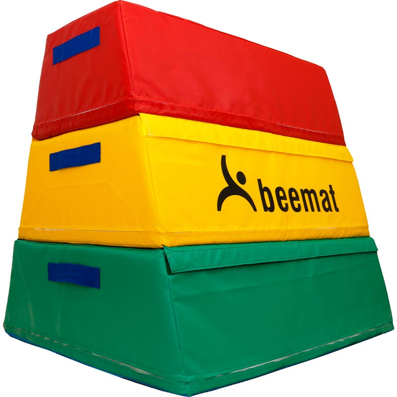 Beemat Gymnastic Three Section Large Foam Vaulting Box