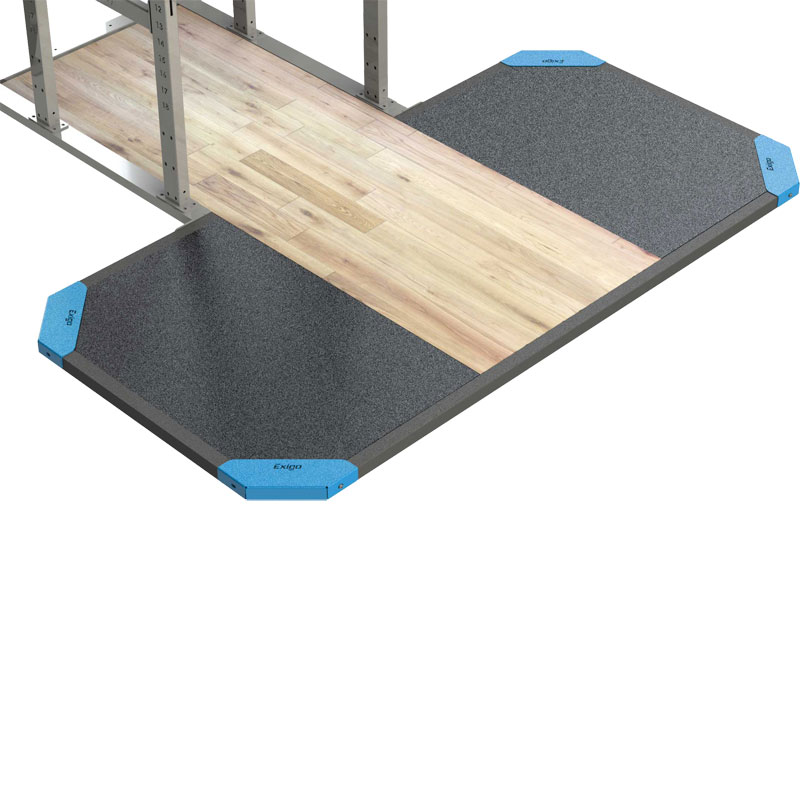 Exigo Half Rack Integrated Platform with Oak Centre