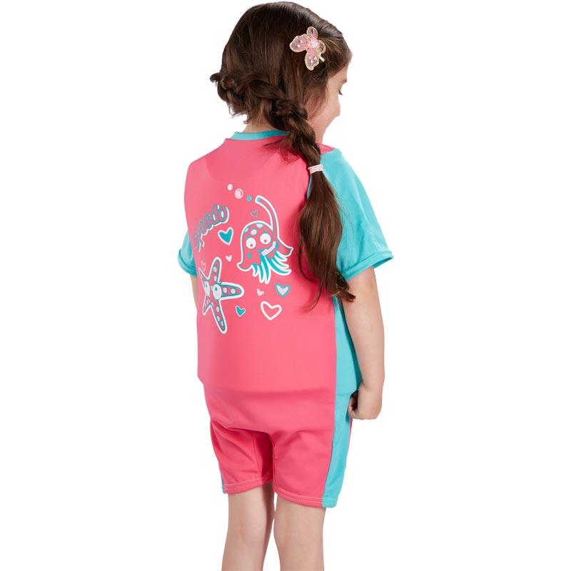 Speedo Sea Squad Float Suit Pink/Bali Blue