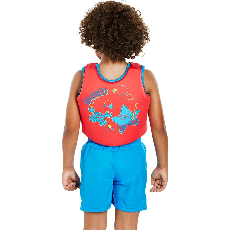Speedo Sea Squad Float Vest Red/Blue