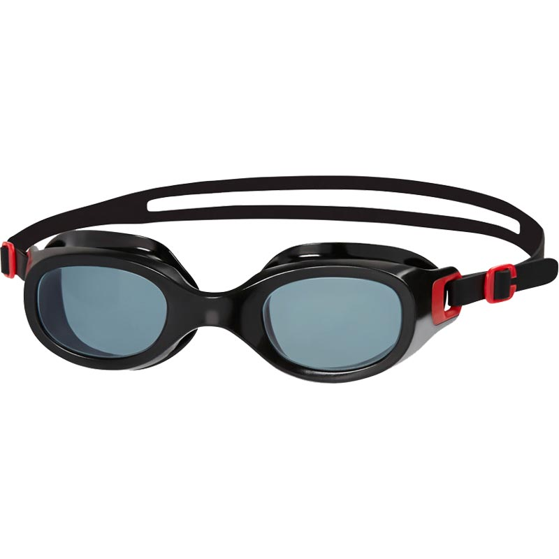 Speedo Futura Classic Swimming Goggles Red/Smoke