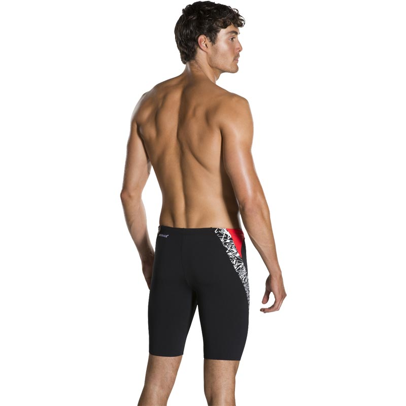Speedo Boom Splice Jammer Black/White/Lava Red