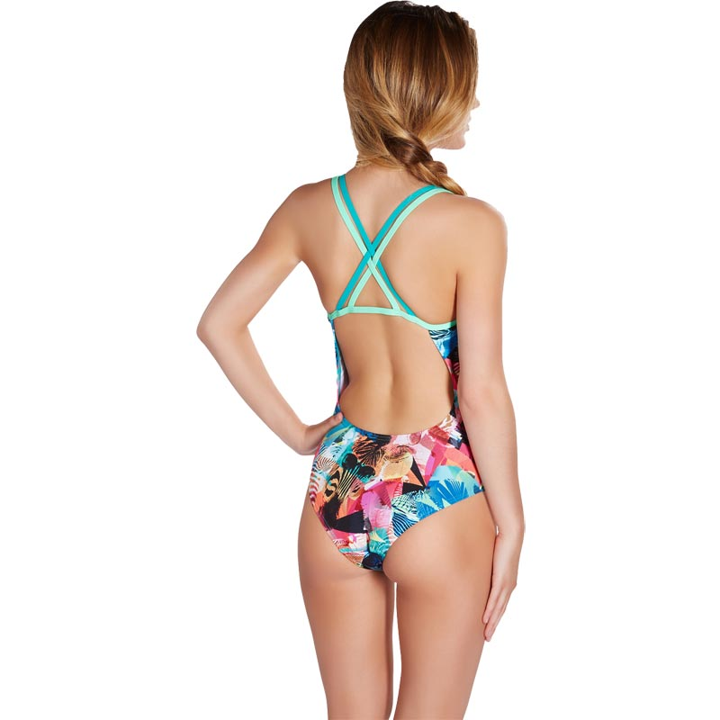 Speedo Flipturns Clash Attack Double Crossback Swimsuit