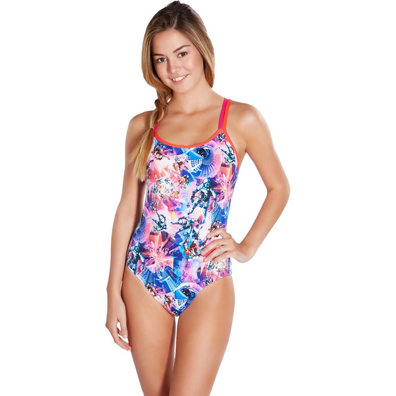 Speedo Flipturns Uncle Gravity Double Crossback Swimsuit