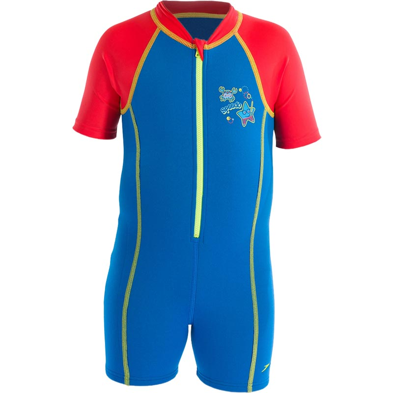 Speedo Boys Sea Squad Hot Tot Suit Blue/Red