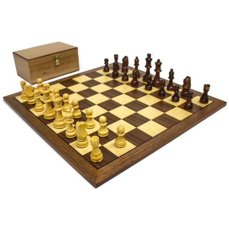 """Staunton 3"""" Wooden Chess Set and  Board"""