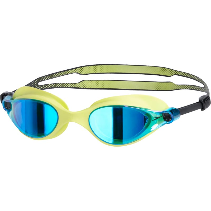 Speedo V-Class Vue Mirror Swimming Goggles Lime/Blue