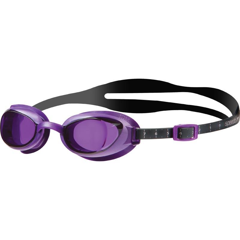 Speedo Aquapure Optical Prescription Female Swimming Goggles  Grey/Purple