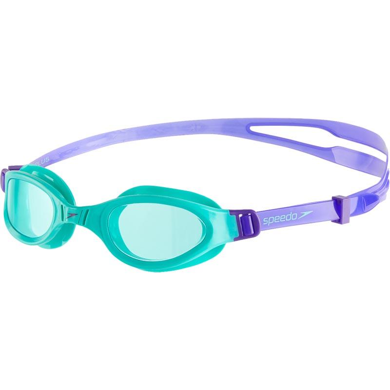 Speedo Junior Futura Plus Swimming Goggles Violet/Spearmint