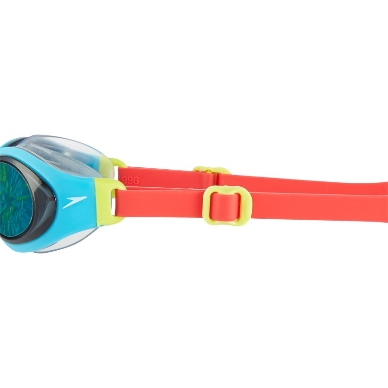 Speedo Junior Holowonder Swimming Goggles  Lava Red/Turquoise/Smoke