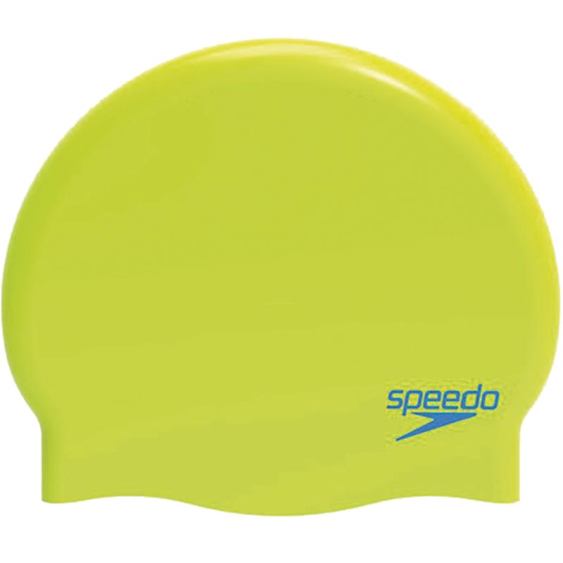 Speedo Junior Silicone Swimming Cap Lime/Turquoise